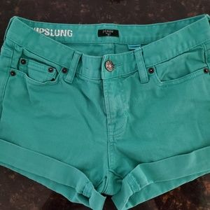 J. Crew turquoise jean stretchy shorts 2